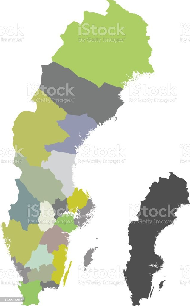 Sweden map royalty-free stock vector art