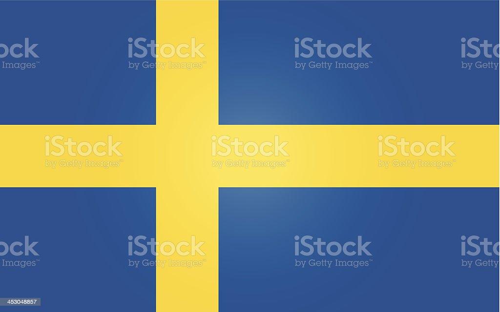 sweden or swedish flag vector art illustration