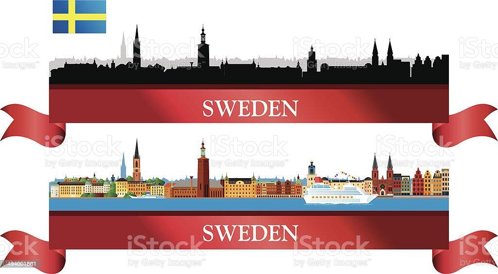 Sweden Skyline royalty-free stock vector art