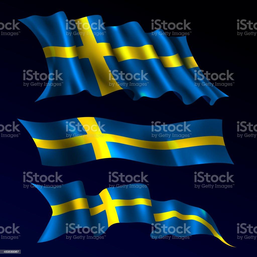 Sweden, Swedish Flag royalty-free stock vector art