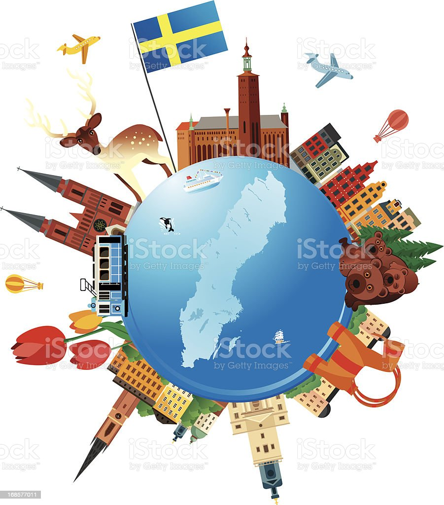 Sweden Travel royalty-free stock vector art