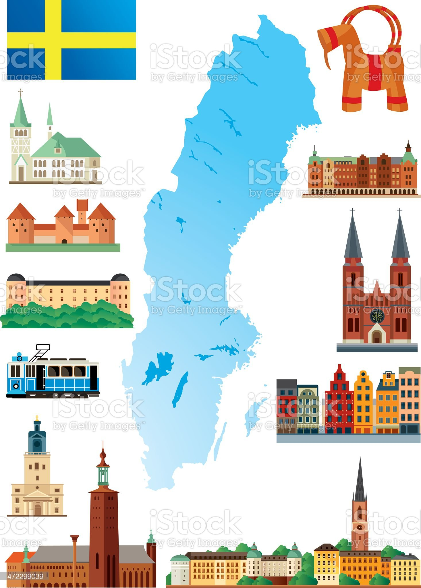 Sweden royalty-free stock vector art