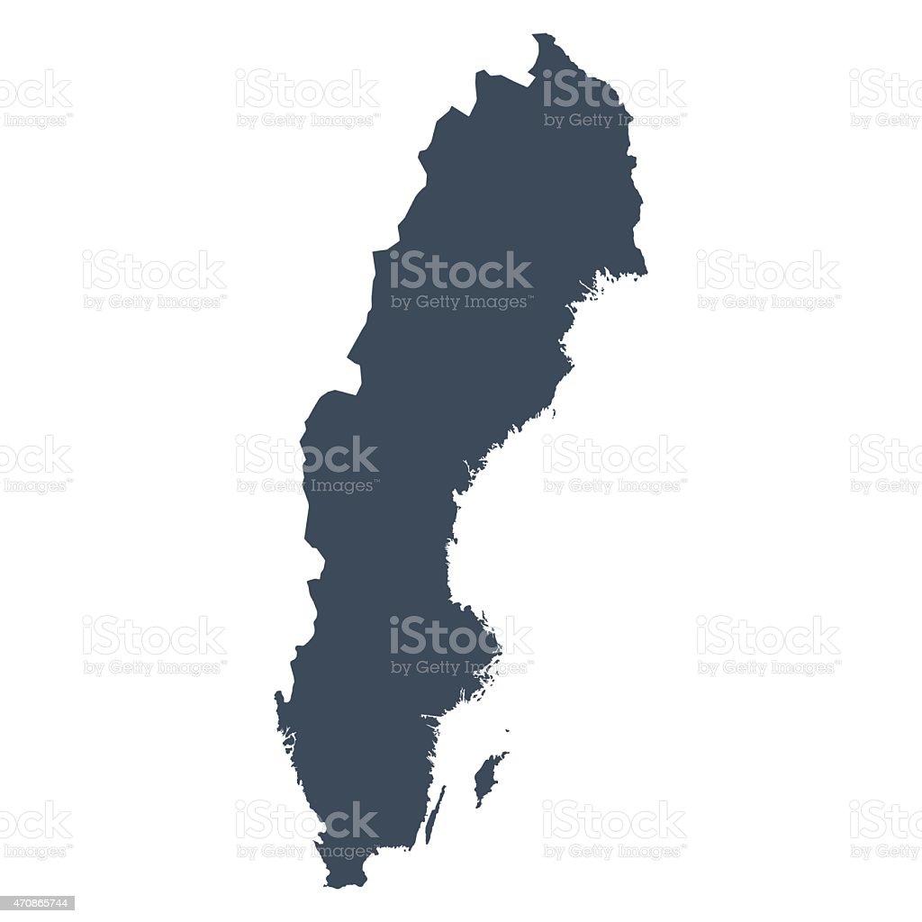 Sweeden country map vector art illustration