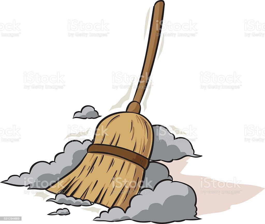 Sweeping Broom vector art illustration