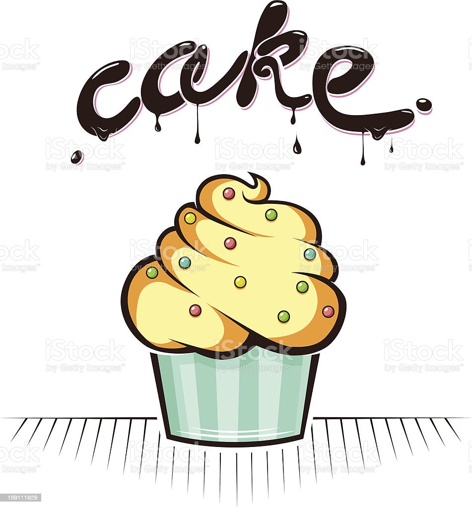 sweet cake royalty-free stock vector art