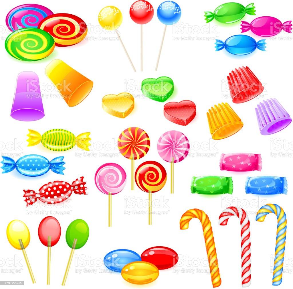 Sweet Candies vector art illustration