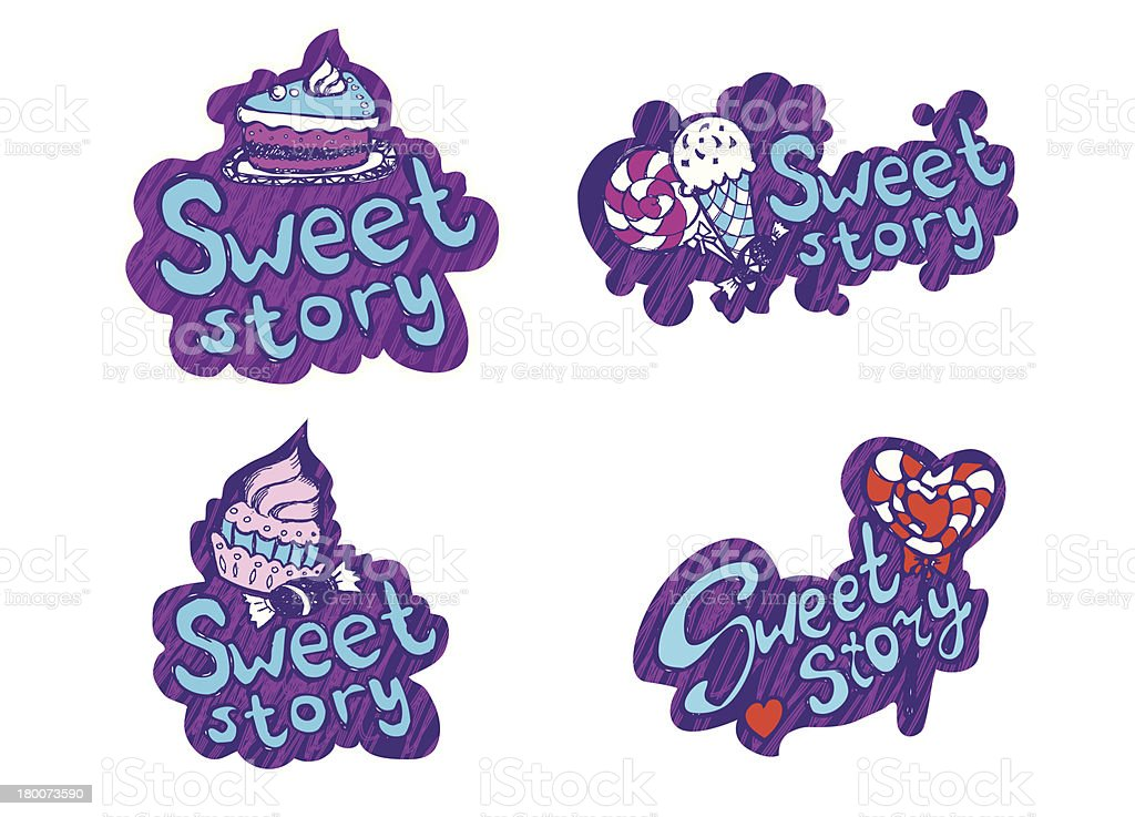 Sweet collection vector art illustration