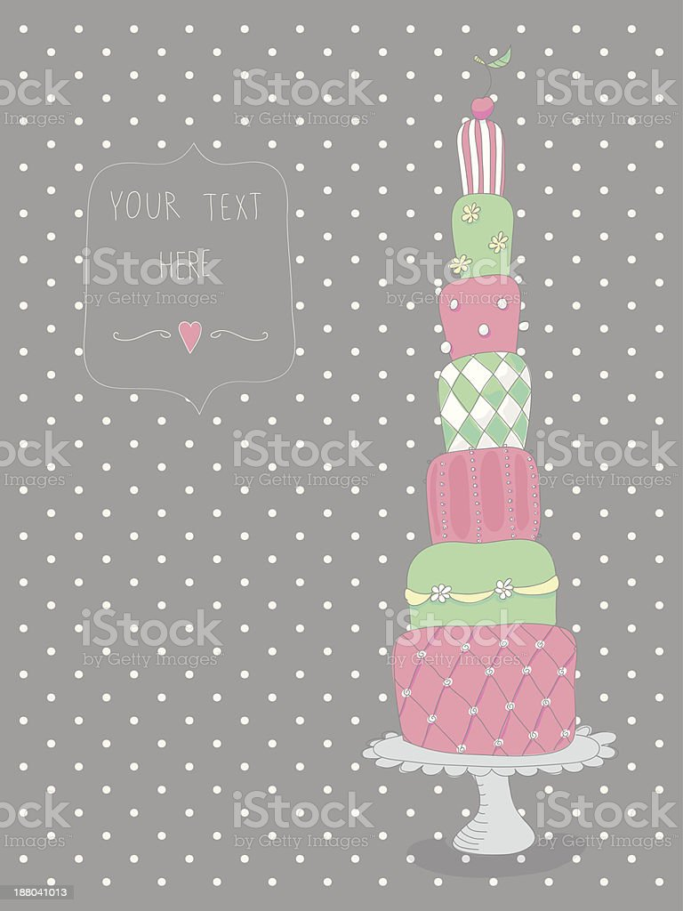 Sweet & colorful cake royalty-free stock vector art