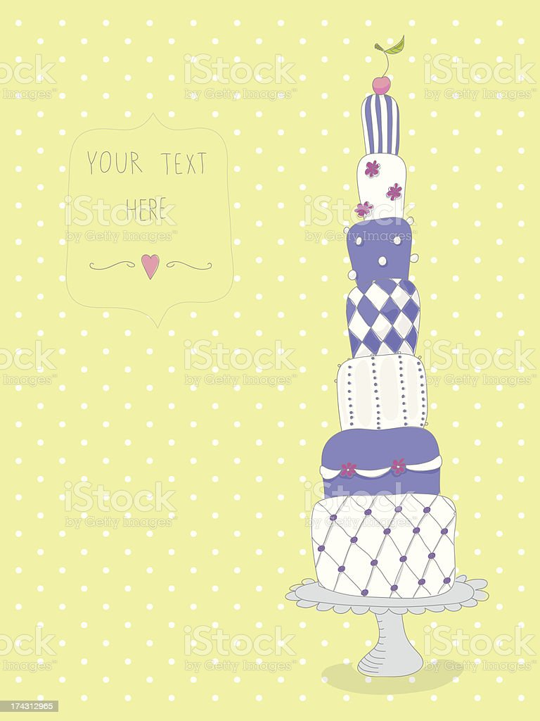 Sweet & colorful sketchy cake royalty-free stock vector art