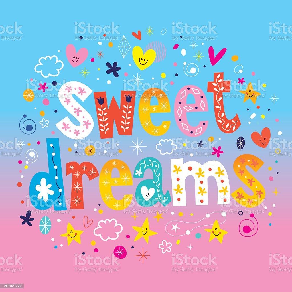 sweet dreams vector art illustration