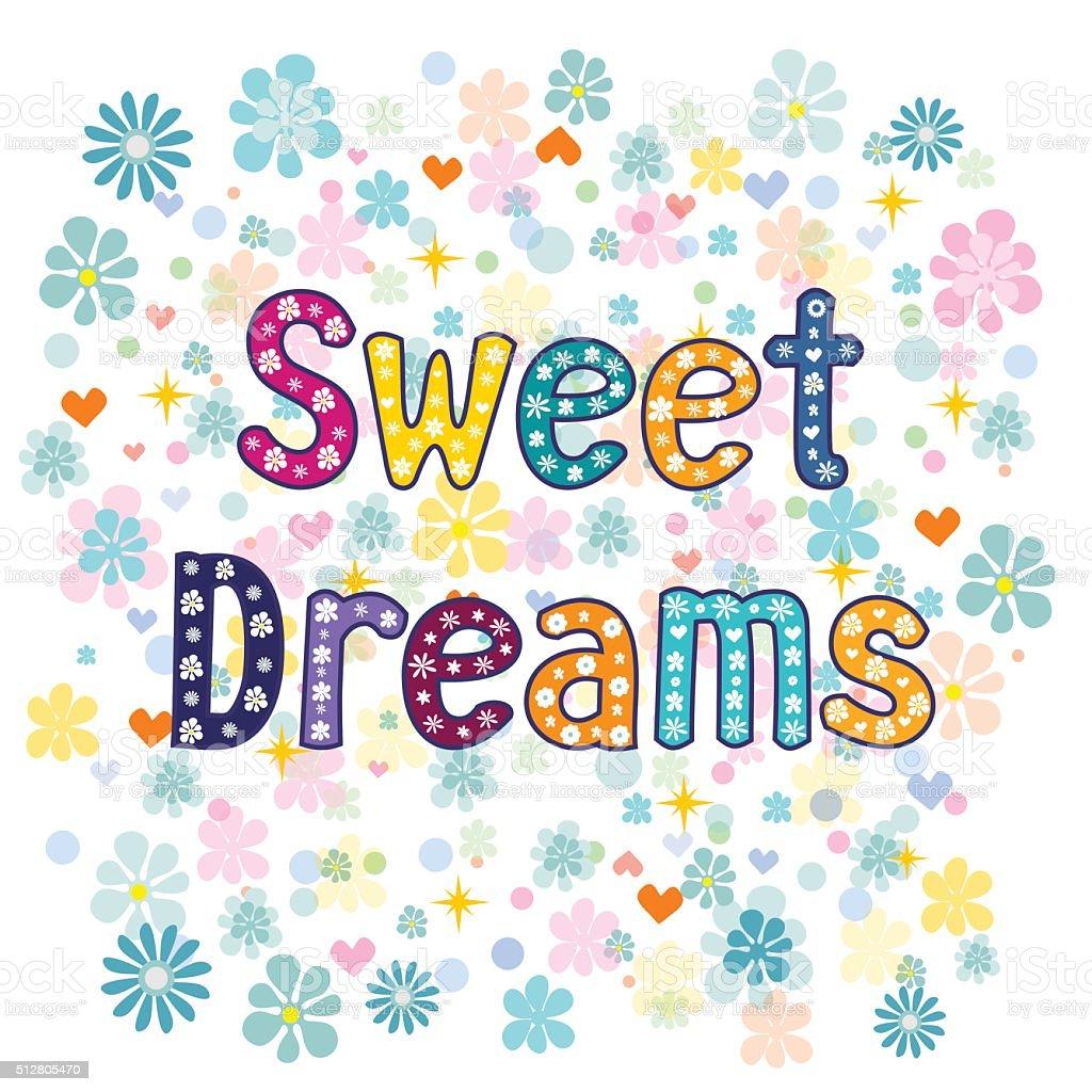 sweet dreams.  Vector vector art illustration