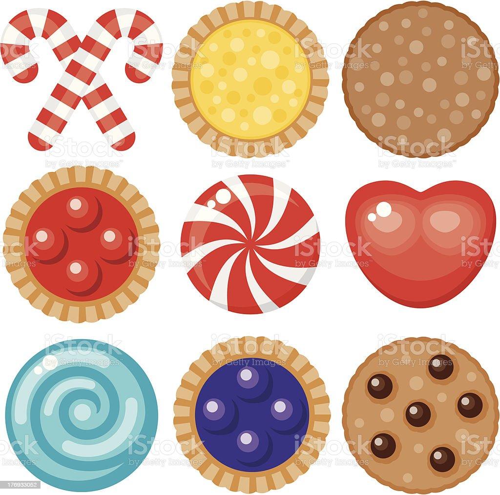 Sweet Food Icon Set vector art illustration