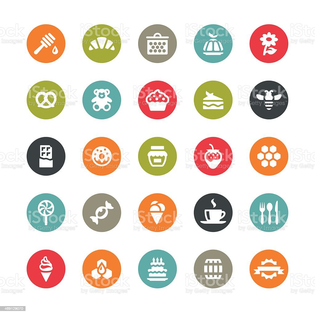 Sweet Food vector icons / Ringico series vector art illustration