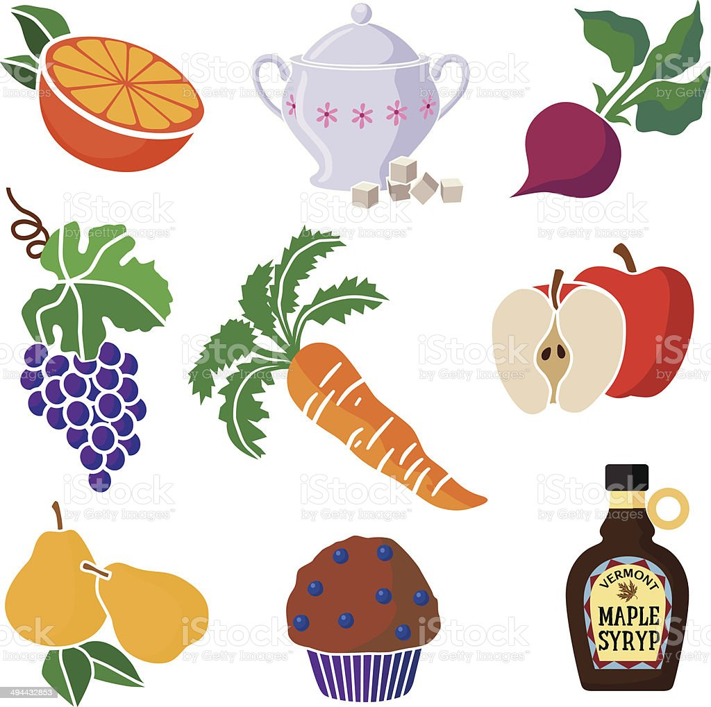 sweet foods royalty-free stock vector art