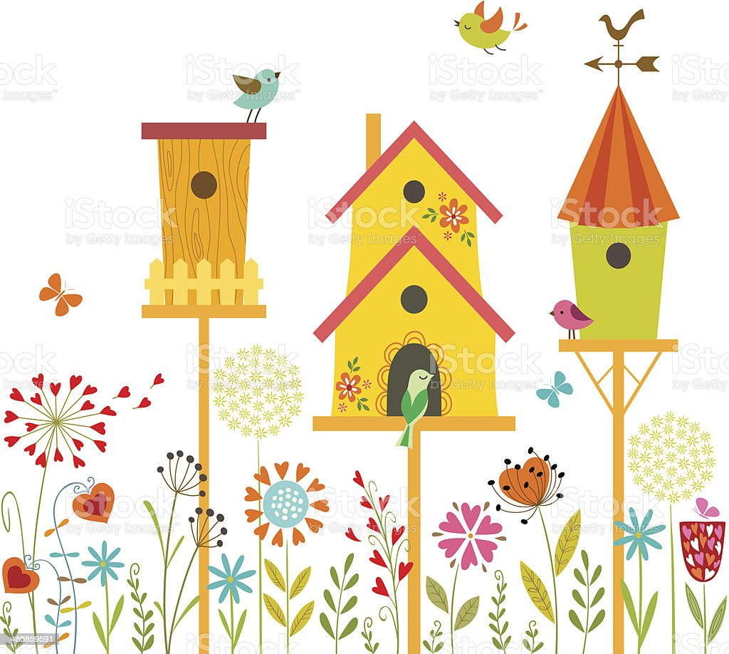 Sweet home vector art illustration