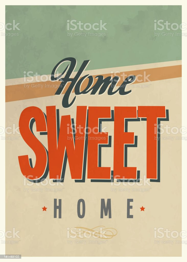 Home Sweet Home Vintage home sweet home clip art, vector images & illustrations - istock