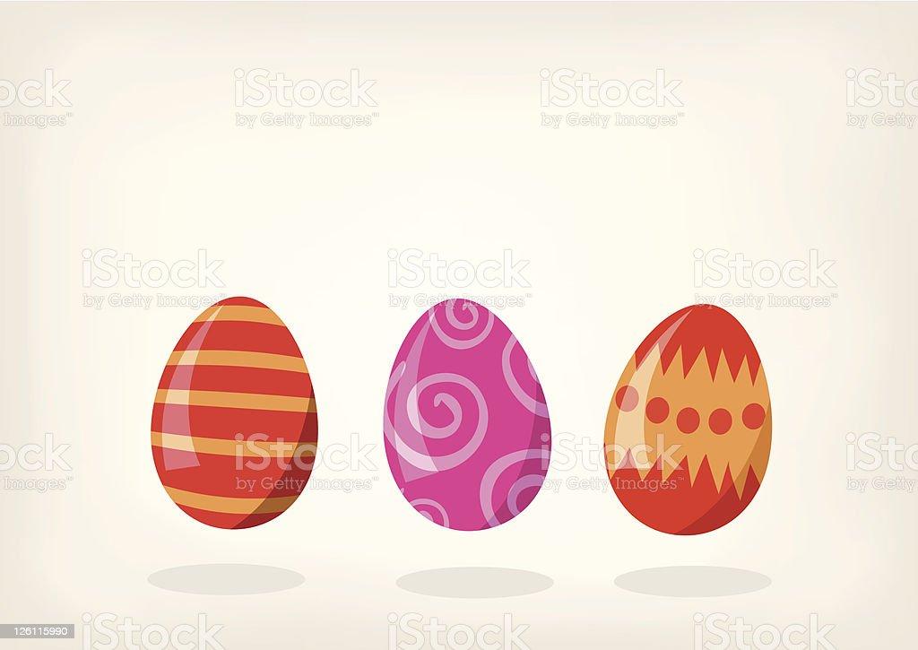 Sweet little Easter Eggs royalty-free stock vector art