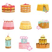 Sweet Party Layered Cakes Assortment