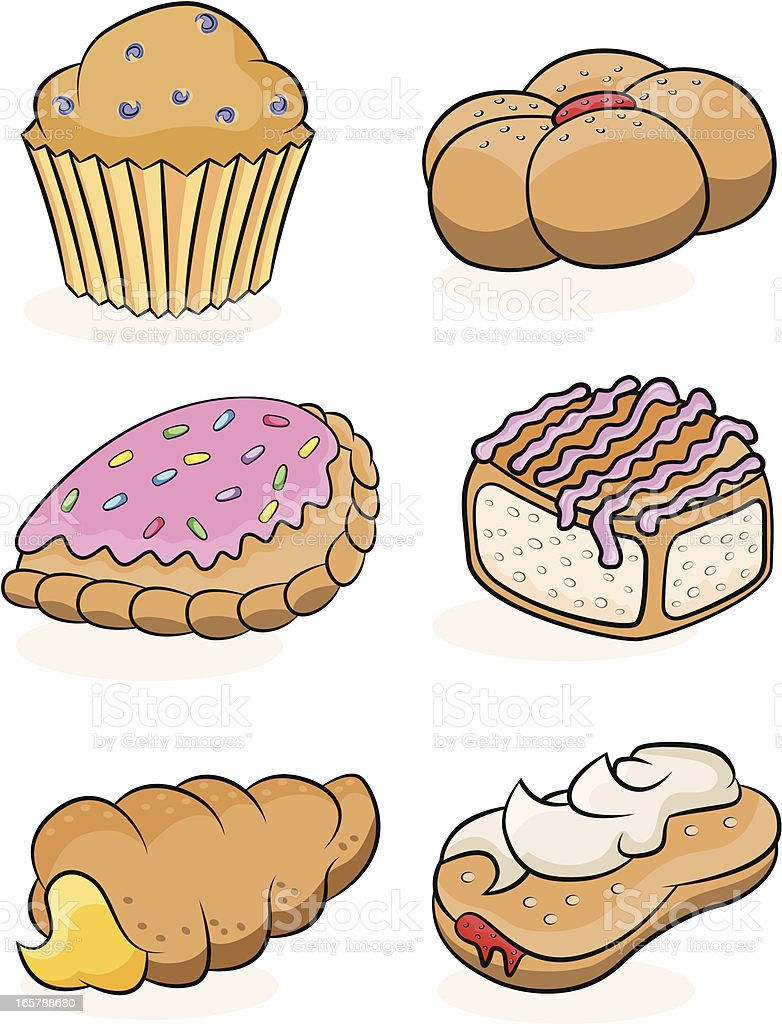 Sweet Pastries royalty-free stock vector art