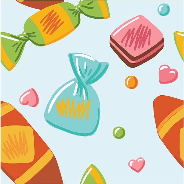 Background Of Chocolate Truffle Candy Wrapper Clip Art, Vector ...