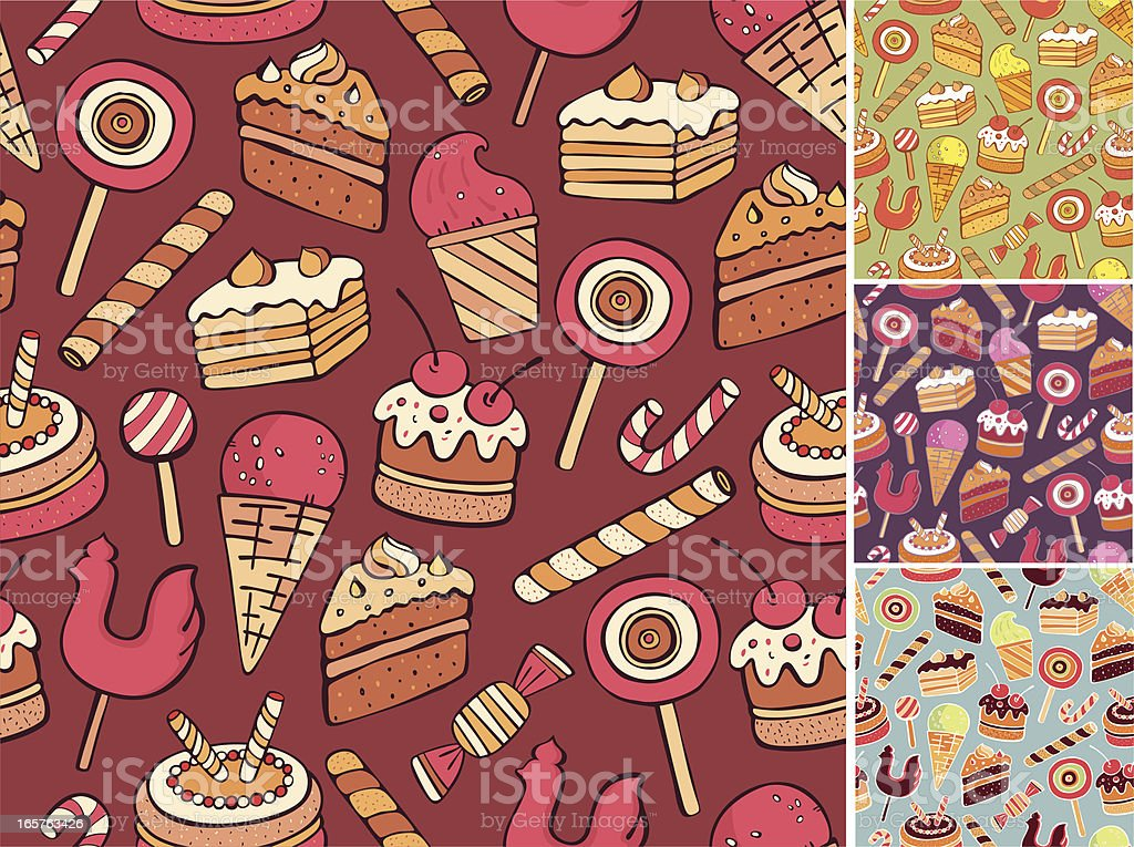 Sweet seamless pattern royalty-free stock vector art