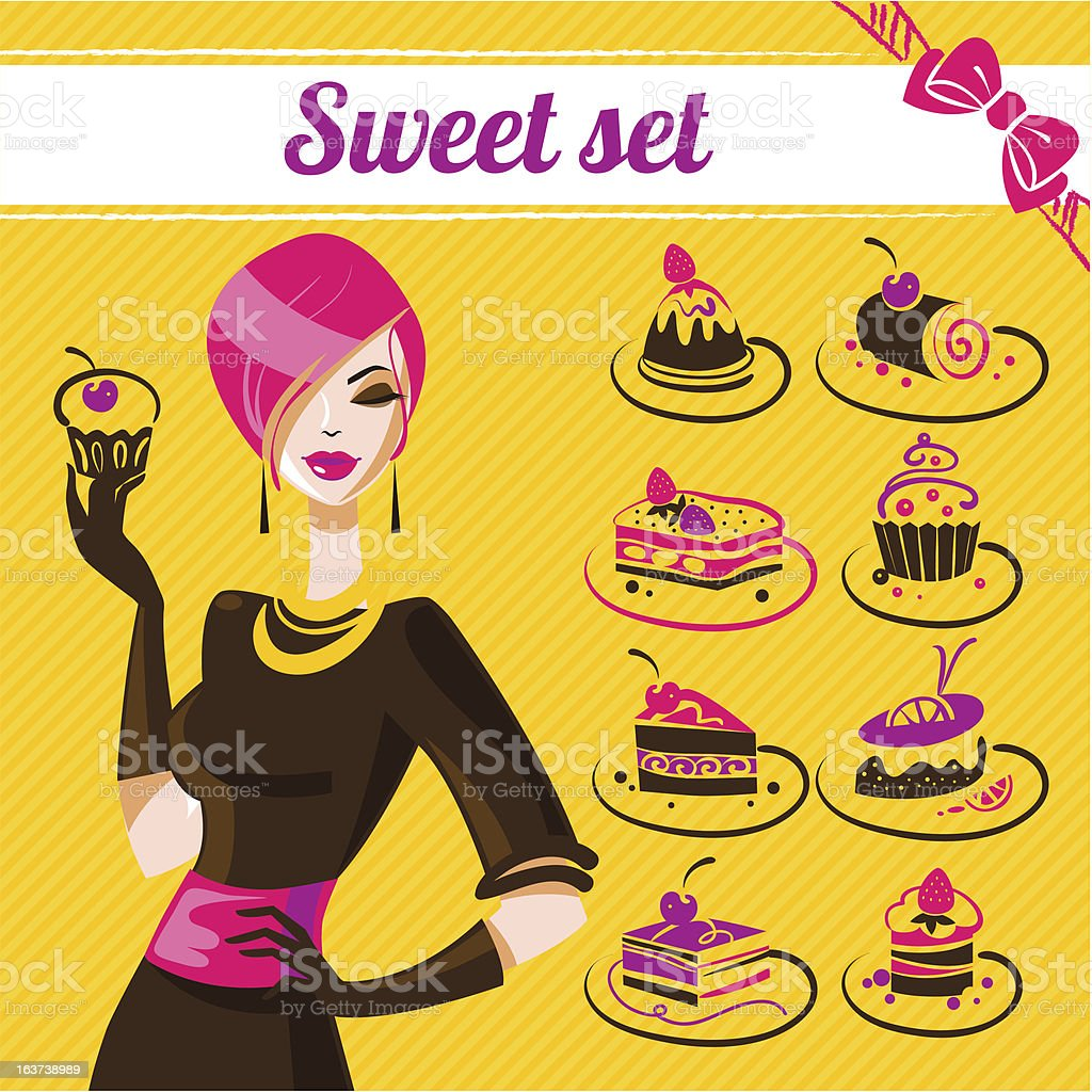 Sweet set royalty-free stock vector art