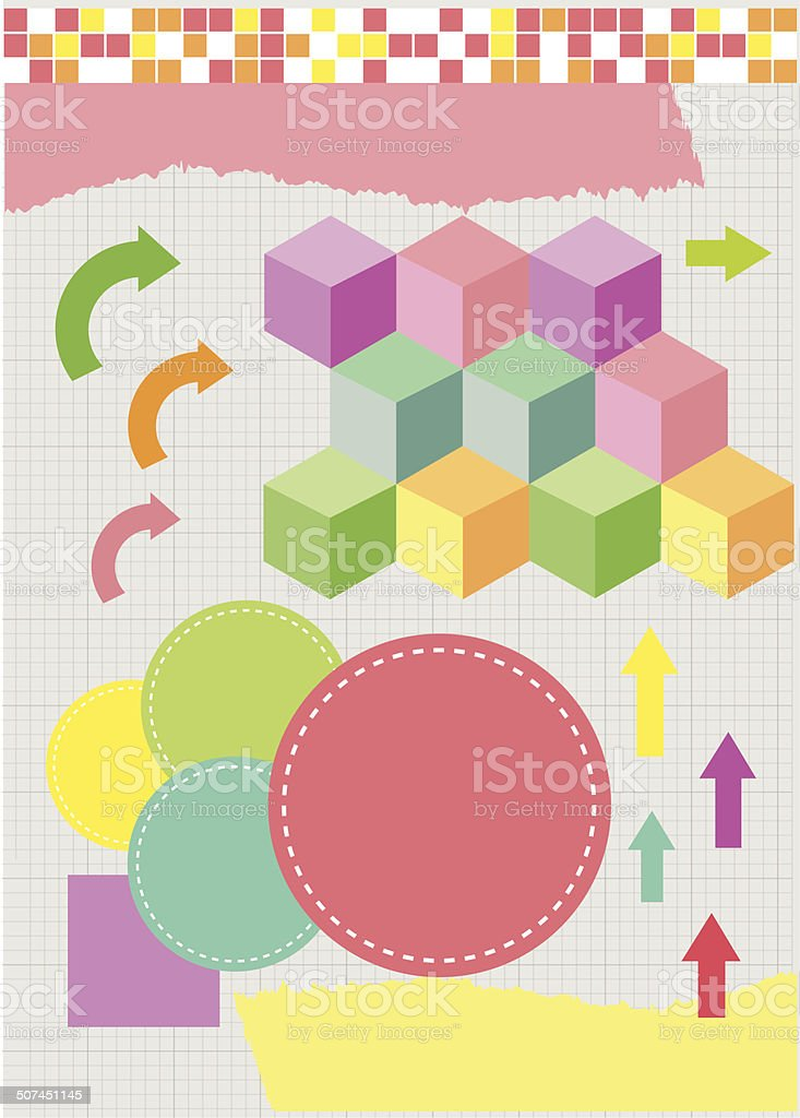 sweet shape for content page vector art illustration