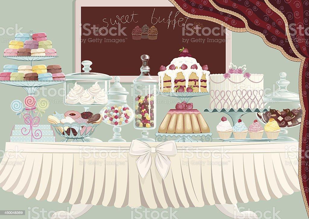 Sweet treats vector art illustration