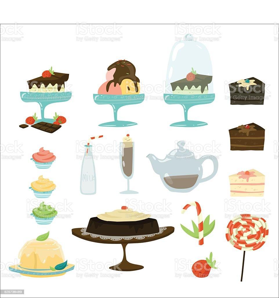 sweet vector art illustration