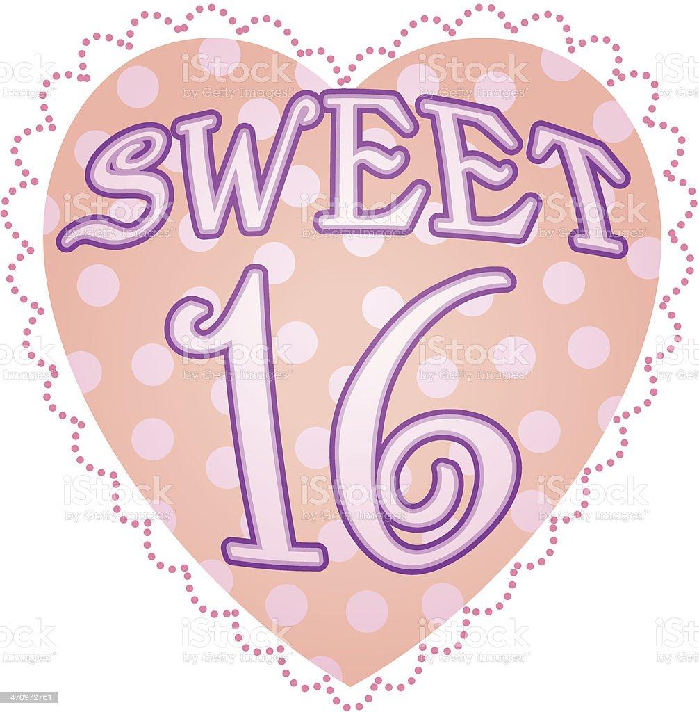 Sweet16 Heading C royalty-free stock vector art