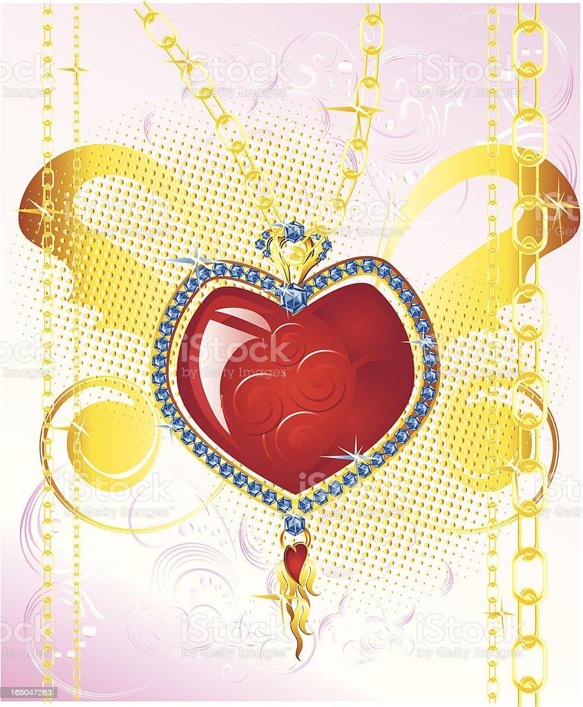 Sweetheart Jewelry royalty-free stock vector art