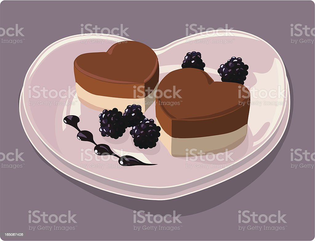 Sweethearts on a Plate vector art illustration