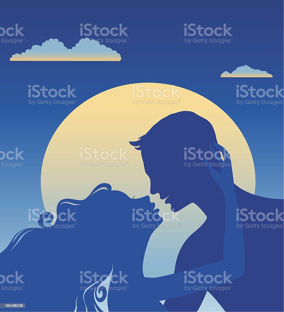 Sweethearts vector art illustration