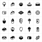 Sweets, Candy and Desserts Icons