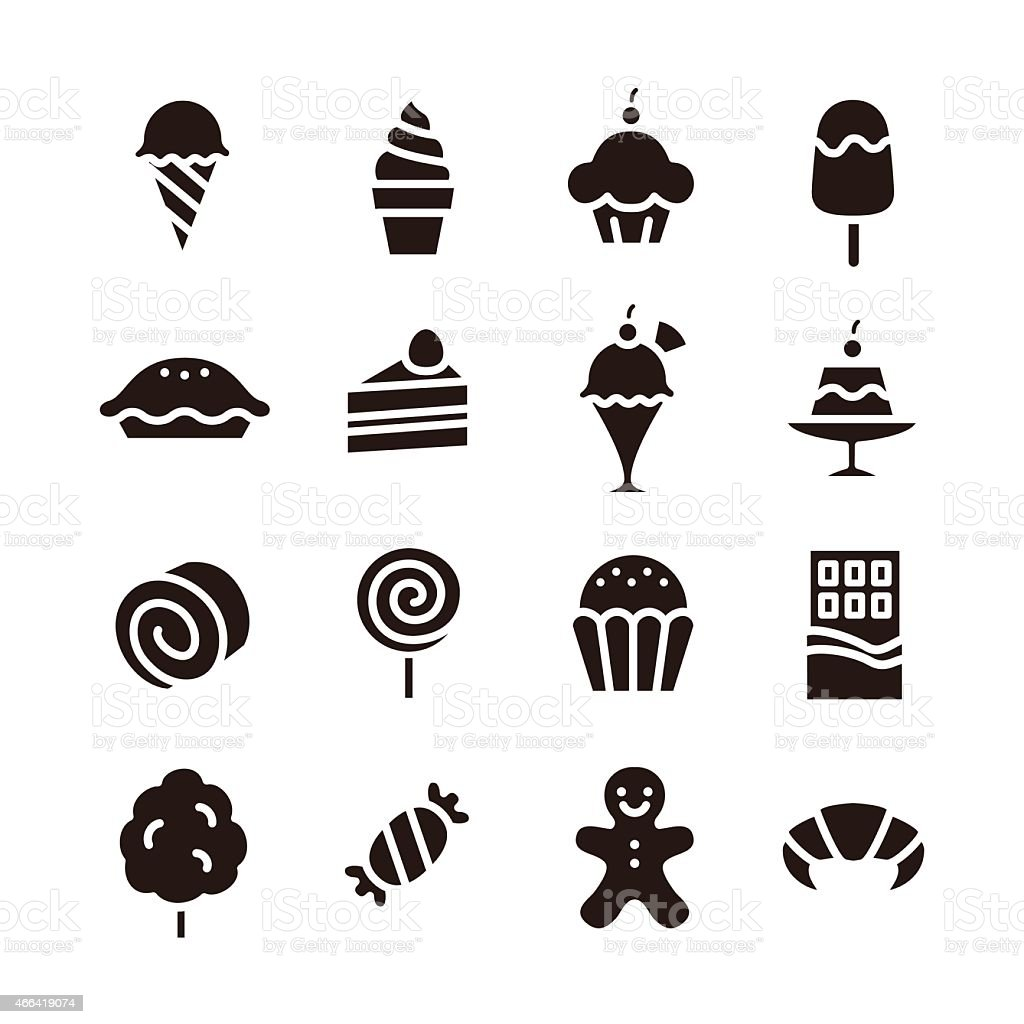 sweets icon vector art illustration