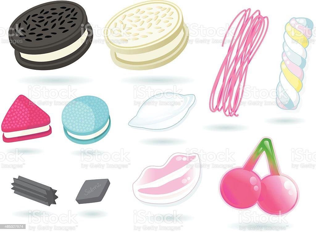 sweets III vector art illustration