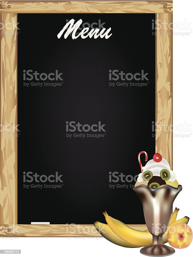 Sweets Menu royalty-free stock vector art