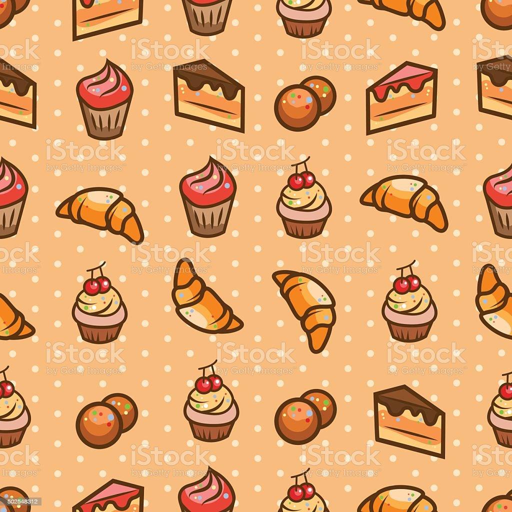 sweets seamless pattern vector art illustration