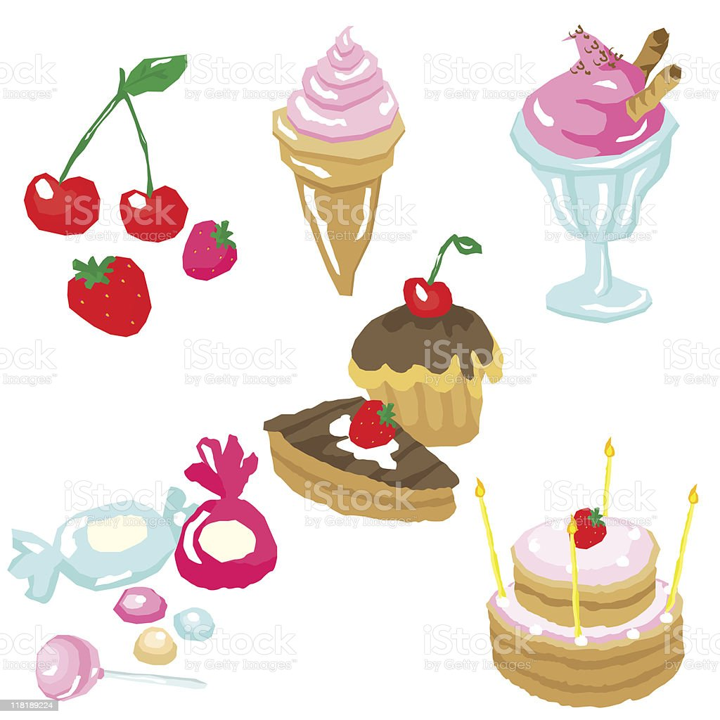 Sweets royalty-free stock vector art