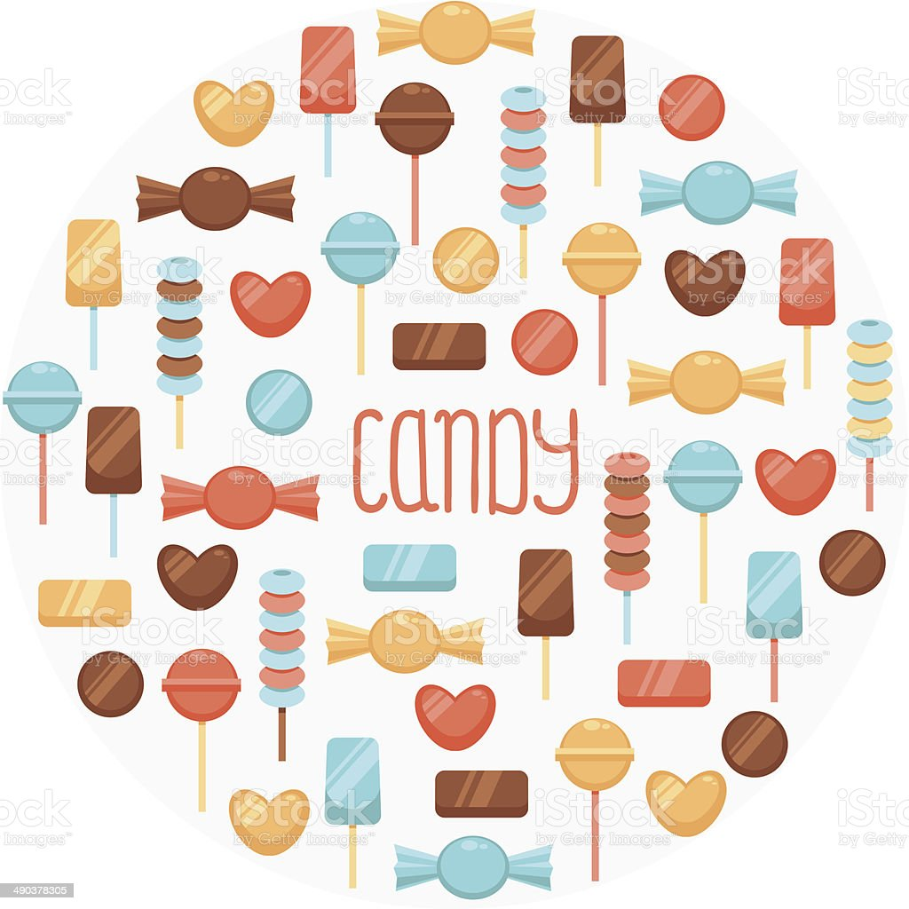 Sweets vector art illustration