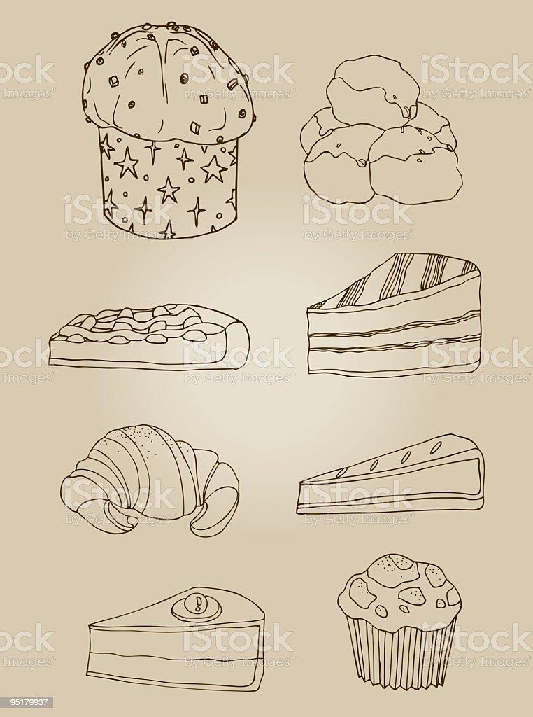 sweets vector art illustration