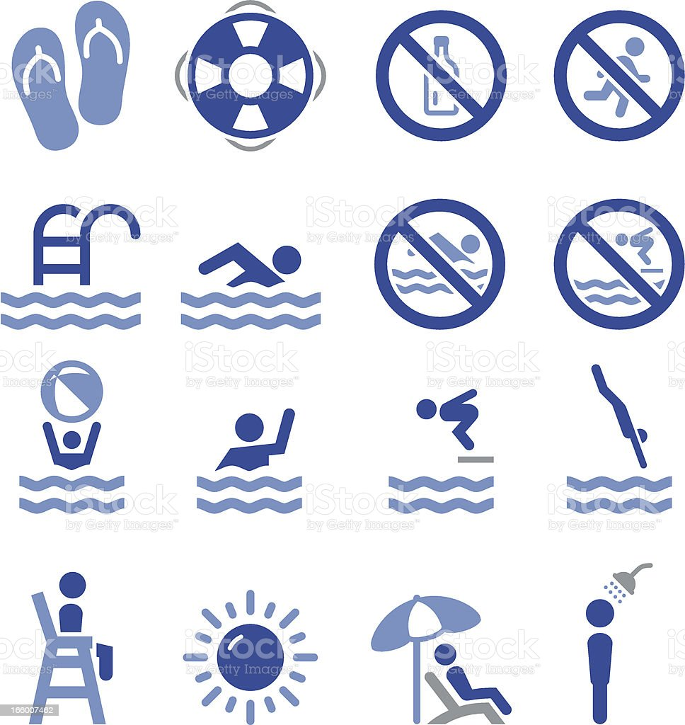 Swim Icons - Pro Series vector art illustration