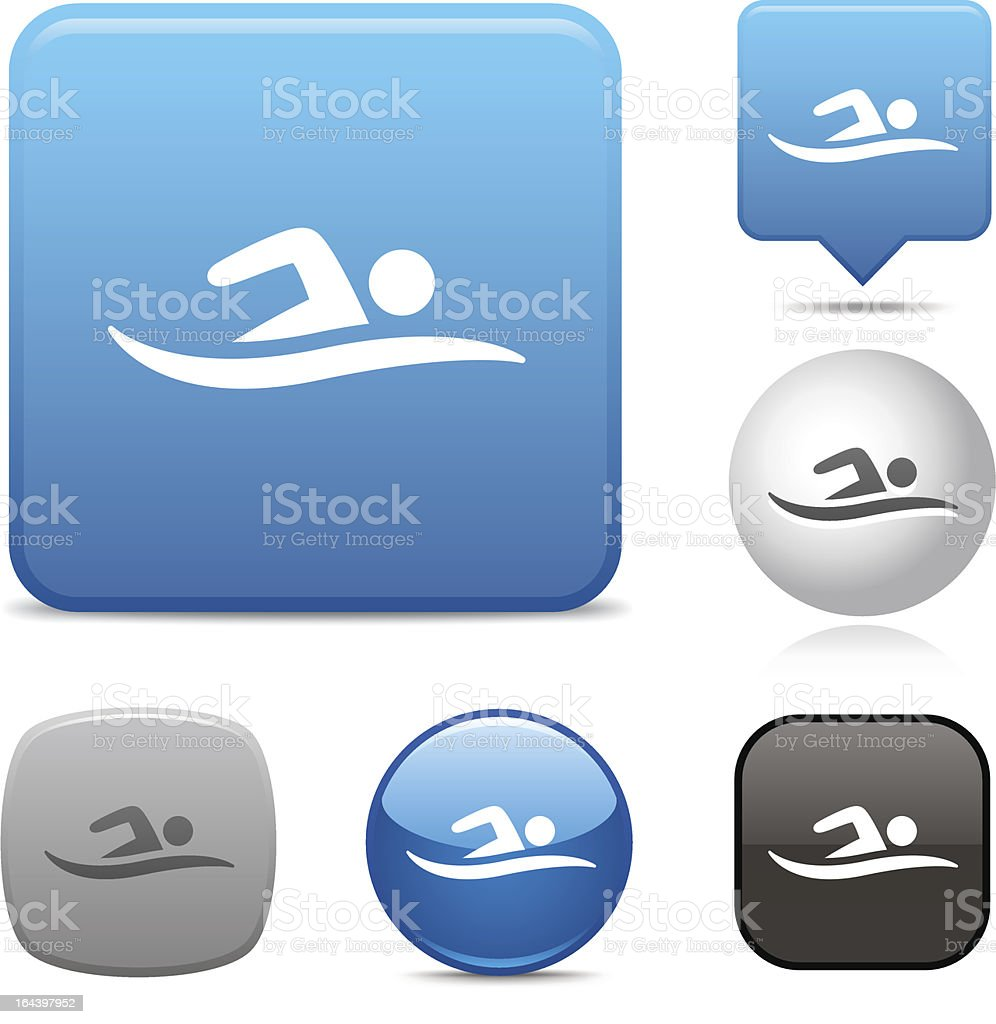 Swimmer icon royalty-free stock vector art