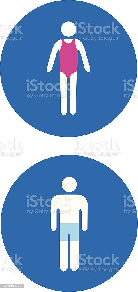 Swimmer Icons (vector). vector art illustration
