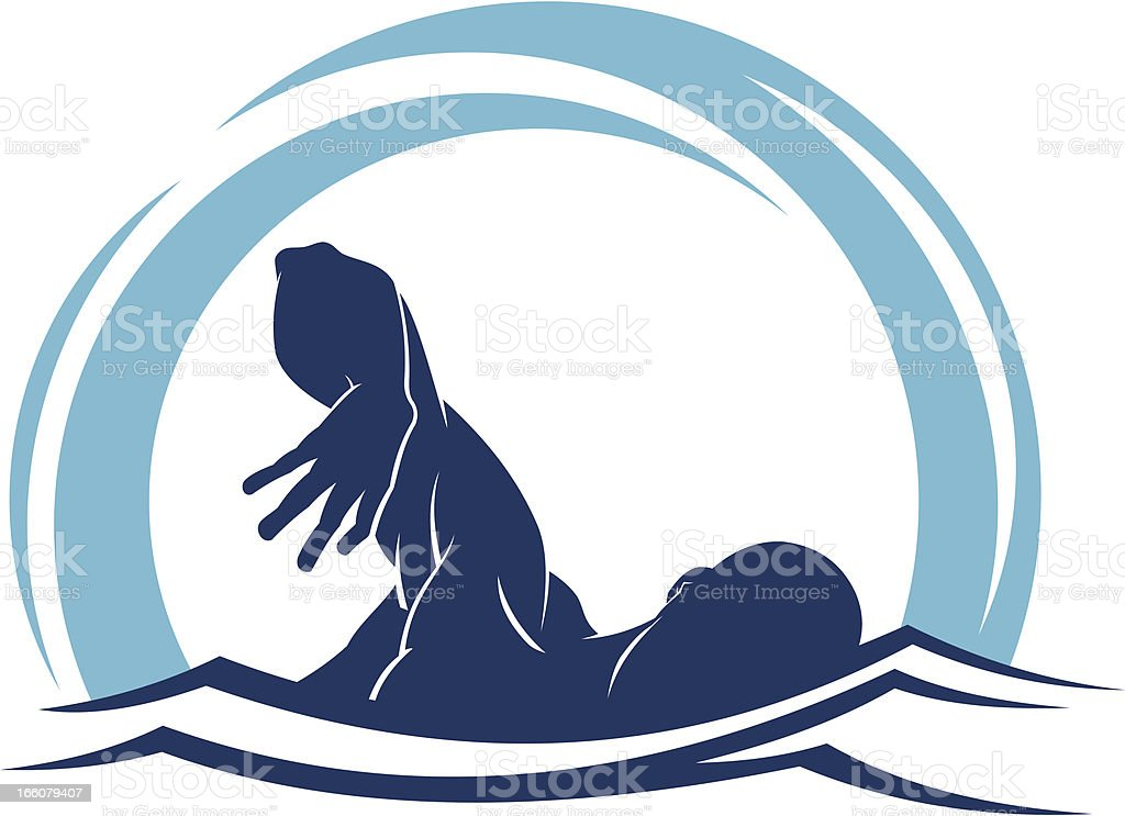 Swimmer royalty-free stock vector art