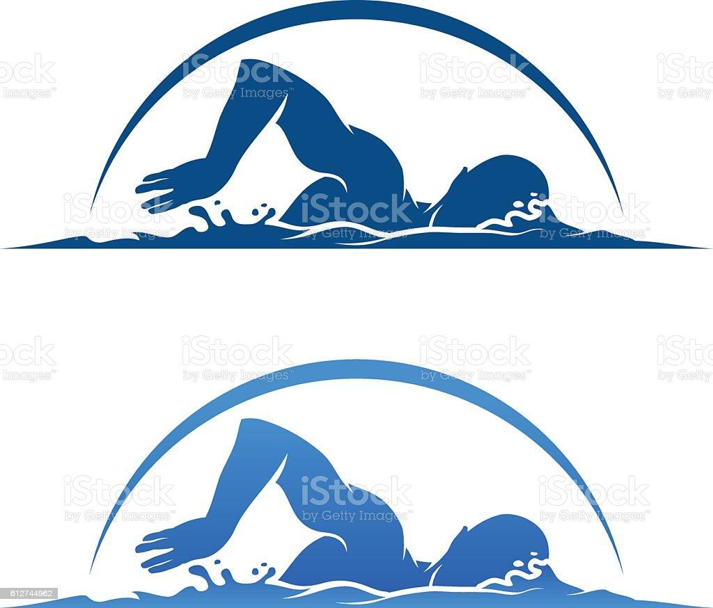 Swimmer vector art illustration