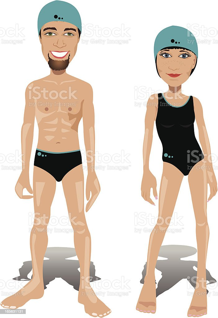 Swimmers royalty-free stock vector art