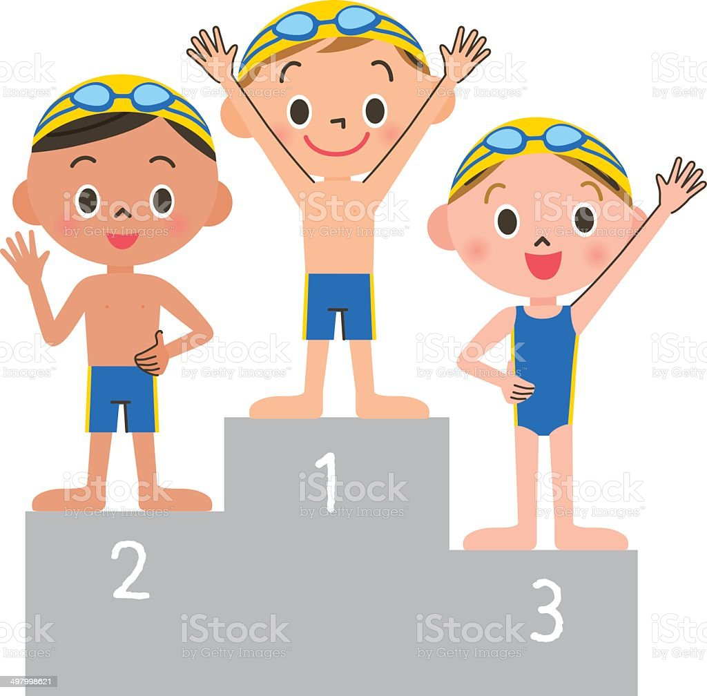 Swimming child order royalty-free stock vector art