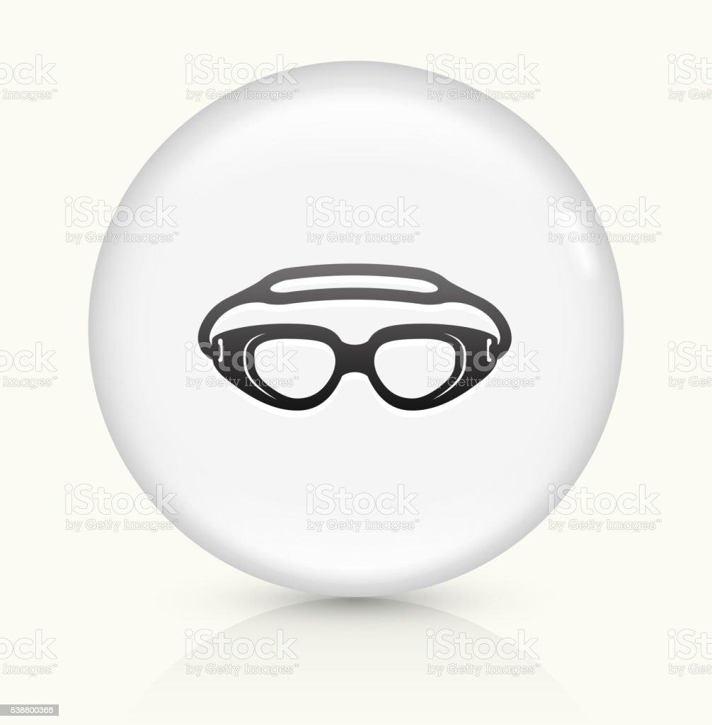 Swimming Goggles icon on white round vector button vector art illustration