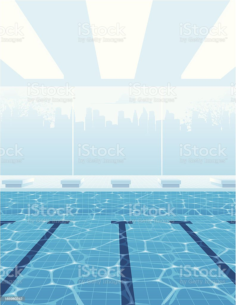 olympic swimming pool top view vector art illustration in ideas